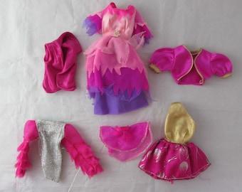 Barbie Marie Osmond Fashion Doll Fuchsia Metallic Doll Clothing Lot Vintage