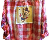 Vintage Reworked Anchor Tattoo Bleached Flannel - Sailor Jerry