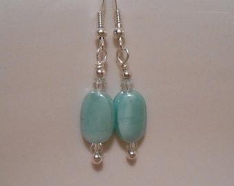 Sky Blue Glass Beaded Earrings Item No. 387