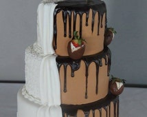 Happily Ever After Cake Topper - Gold - Silver - Copper - Black Glitter - wedding cake topper - Fairytale Cake Topper