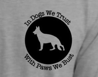 K-9 Police Support T-Shirt