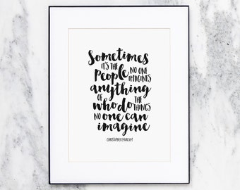 The Imitation Game movie quote | Wall Art Print | Brush Lettering | CP-NRD