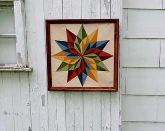 Pallet Wood Mosaic Barn Quilt Handmade Primitive Rustic Country Decor