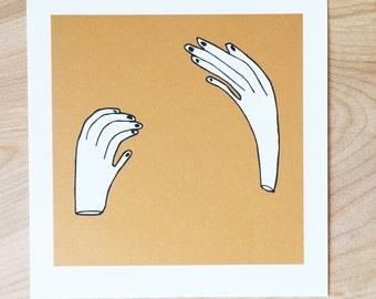 Hands Still Hands Moving - 5 x 5 Print