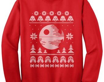 Star Wars Dark Side of the Force Ugly Christmas Sweater Unisex Adult Crew Neck Sweatshirt