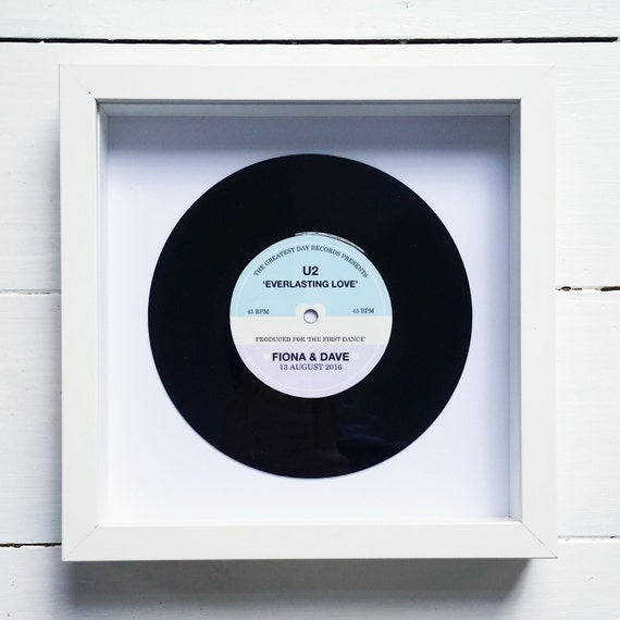 Personalised Vinyl Record Frame Wedding Gift First Dance