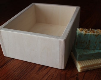 """10 lb to 12 lb Pound Bulk Triple Wide 4.5"""" Tall Skinny Large Slab Style Cold / Hot Process Birch Wood Soap Mold Log Loaf"""