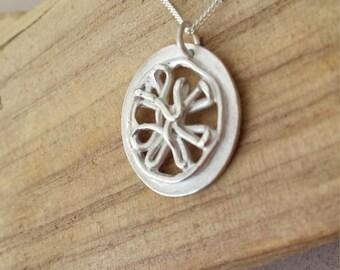 Unique Handmade Silver Squiggle Pendant