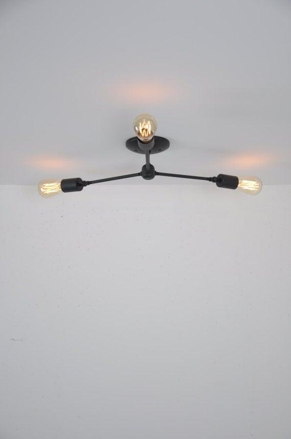 Ceiling mounted light fixture flush mount light matte black like this item mozeypictures Images
