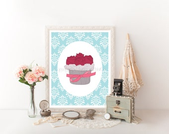 Cupcake Art Cupcake Decor Printable, Cupcake Printable, Cupcake Digital Download, Cupcake Decor Digital Download, Cupcake Decor Cupcake 0078