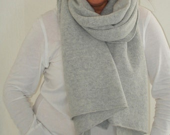 Blanket Scarf Handcrafted in Greenwich London with British Spun Lambswool