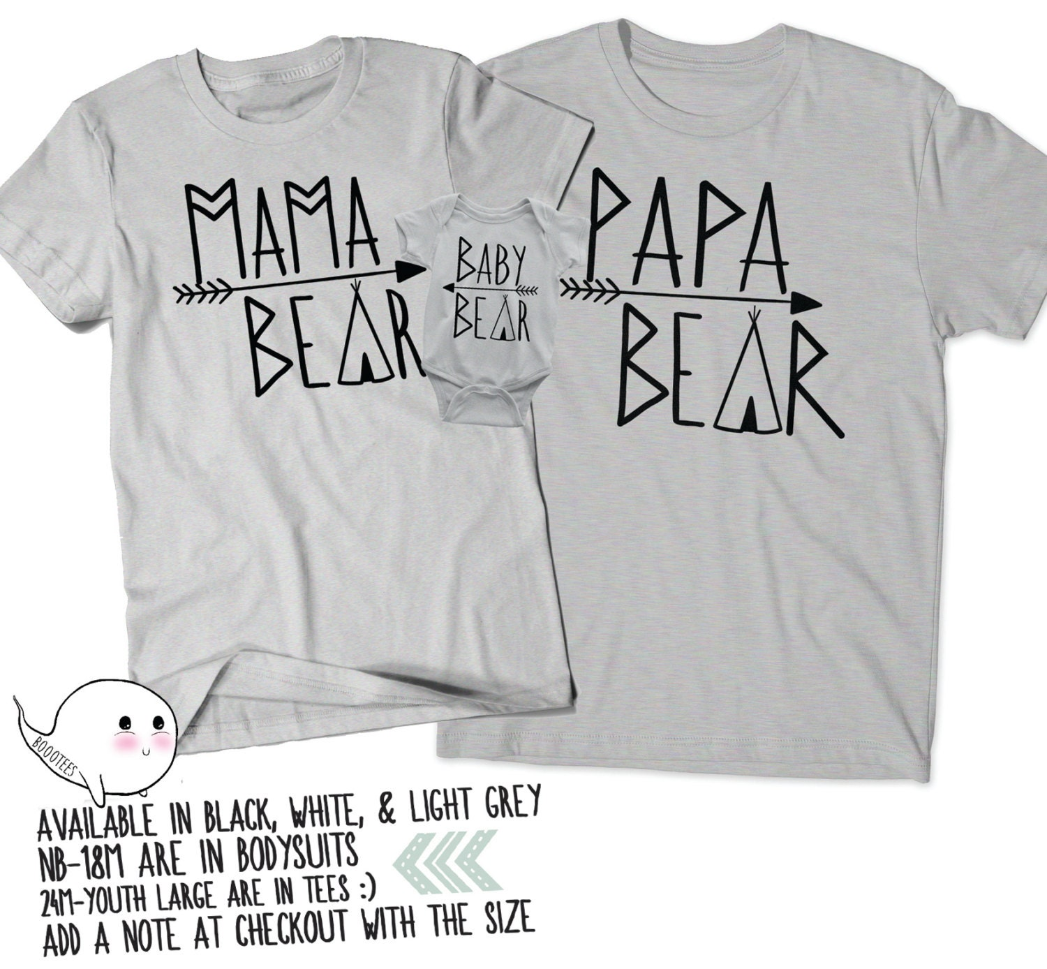 Papa Mama Baby Bear Shirts: Papa Bear Baby Bear Mama Bear Shirt Gifts For Dads Mothers Day