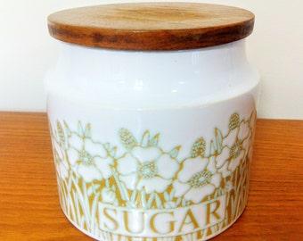 Hornsea Fleur Sugar Canister Retro Storage Jar Vintage Kitchen Container