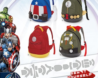 Maverl Avengers assemble backpacks. Simplicity 8108.
