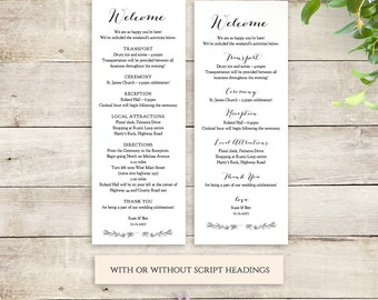 Welcome itinerary wedding guest welcome letter template wedding welcome notes instant download printable templates sweet bomb edit print trim pronofoot35fo Gallery