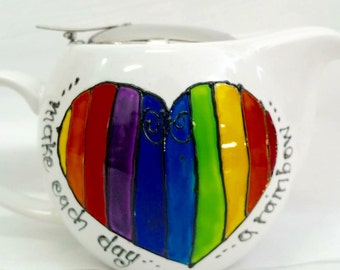 Each Day a Rainbow Teapot