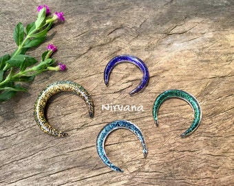 "1 Pair (2 Pieces) Dichroic Glass Septum Pinchers 10g 8g 6g 4g 2g 0g 00g 7/16"" 1/2"" 9/16"" 5/8""  3 mm 4 mm 5 mm 6 mm 8 mm  - 16 mm"