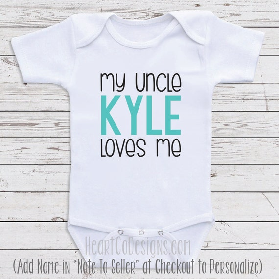 Personalized uncle baby clothes my uncle loves me like this item negle Choice Image