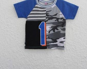 Size 1 Upcycled T Shirt, Number 1 Graphic T Shirt, irst Birthday T Shirt, Recycled Tshirt, Repurposed Tshirt, Child's Tshirt, Toddler Tshirt