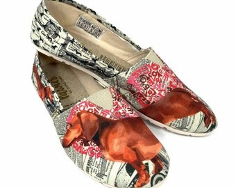 Dachshund Shoes !! Women shoes, Dog Lovers, dog breeds.