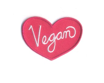 Mini Vegan Patch - Red and White Animal's Rights Advocate Iron on Patch