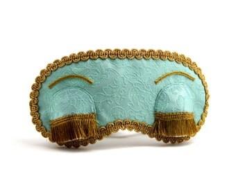 Holly Golightly sleep mask, Breakfast at Tiffany's eye mask, Audrey Hepburn blindfold, Birthday gift for her, Christmas present for women
