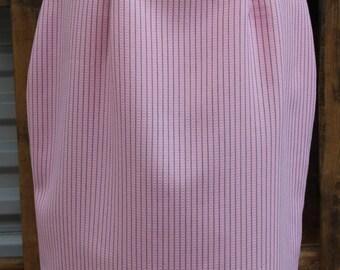 Vintage 1980s, 1990s, Pink, Pinstripe, Pencil Skirt, XL