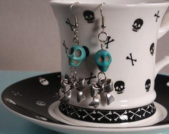 Blue Skulls & Bows
