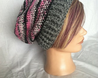 Crochet Slouchy Beanie with brim