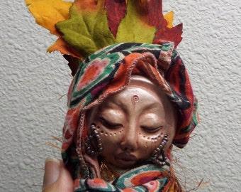 Nature Art Doll  Handmade Assemblage Art Figure,  OOAK Art Doll