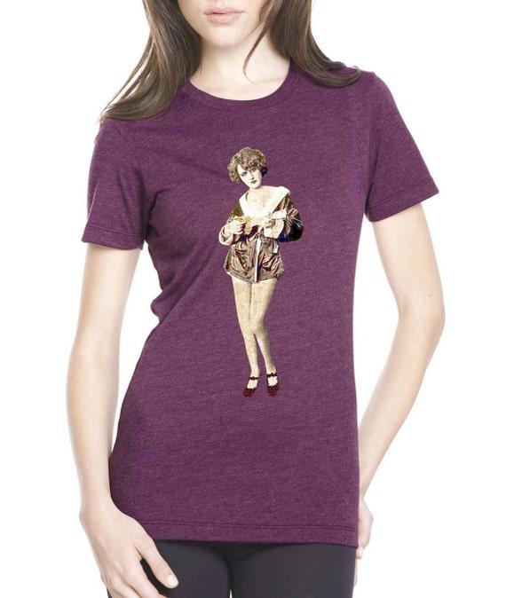 ukulele shirt - womens tshirts - music festival clothing - music shirt - music gift - music t shirts - guitar shirt - UKE GIRL - crew neck