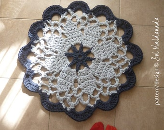 Mandala Crochet pattern Tarn Rug PDF or Doily  mandala crochet pattern easy beginner - INSTANT DOWNLOAD