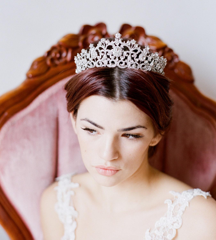Bride Wedding Crown: Bridal Tiara Swarovski Crystal Tiara ELORA Swarovski