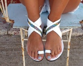 Bohemian Leather Sandals, in Six Colors. Thalia - Free standard shipping