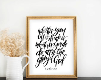 Scripture Print: Eat or Drink