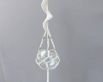 Rainbow beads macrame plant hanger, Indoor plant hanger, Modern macrame, boho decor, pot hanger, rope hanger, hanging planter, pot holder