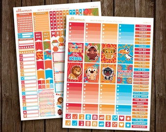 King of the Jungle Kit | PRINTABLE pdf jpg | Disney Lion King Inspired Planner Stickers | Simba Mufasa | fits Erin Condren or Recollections