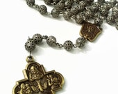 Rosary Necklace for Men, Rosary Mens Necklace, Silver Mens Rosary Necklace, Catholic Rosaries for Men