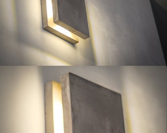 wall light concrete SC#57 handmade. plug in wall lamp. sconce. concrete lamp. minimalist light. wall lamp. wall lamp. minimalist. nightlight