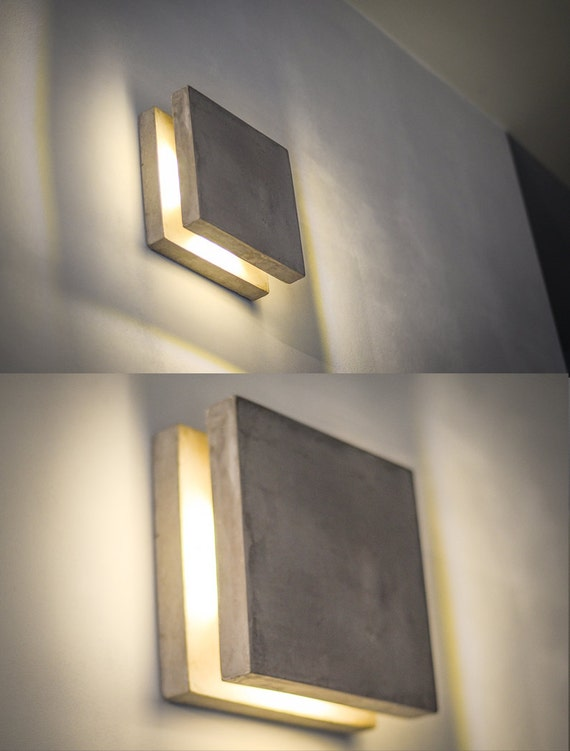 Wall light concrete sc156 handmade plug in wall lamp like this item mozeypictures Images