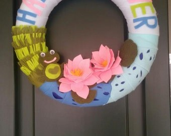 Passover wreath etsy passover felt wreath happy passover door decor passover sign gift idea for rabbi negle Choice Image