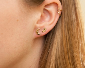 Star constellation, 9ct gold stud earrings, tiny star earrings, star earrings, constellation studs, star stud, gold earrings, zodiac, SF7773