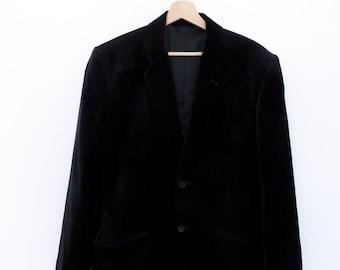CLASSIC 2 BUTTON Black blazer jacket 100 % soft cotton