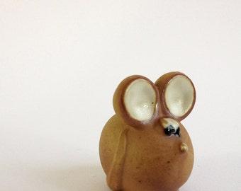 MOUSE. Boltze Design Bazar. Funny Fat 1970s Ceramic Mouse Figurine.