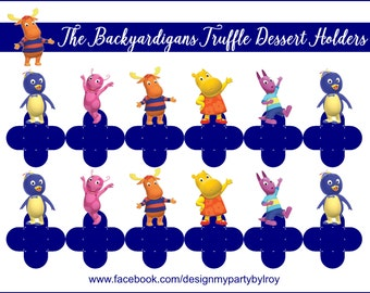THE BACKYARDIGANS, The Backyardigans Treat Holders, The Backyardigans Party Favors, The Backyardigans Party Supplies,Chocolate Holders,Cups.