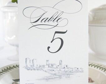 Fort Worth Skyline Table Numbers (1-10)