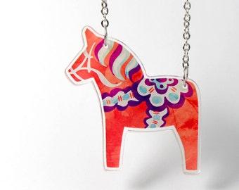Acrylic Necklace DALA HORSE Finart-Jewellery