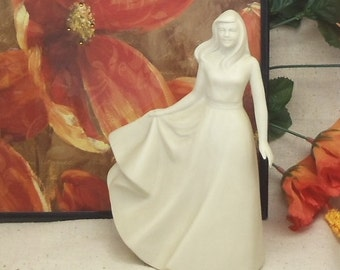 """Vintage Hansen Classics Fine  Porcelain Figurine,""""Young Woman"""" by Florence P Hansen,7.5"""" tall,Ivory Matte Finish,1996,#VB7108"""