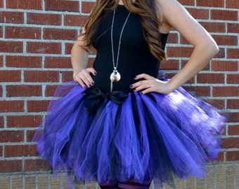 Purple Tutu - Purple Witch Tutu - Purple Black Tutu - Adult Purple Tutu - Adult Witch Tutu - Witch Costume - Marathon Tutu - Teen Witch Tutu