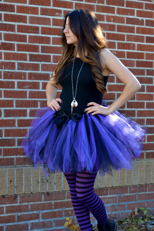 Purple Tutu Purple Witch Tutu Purple Black Tutu Adult